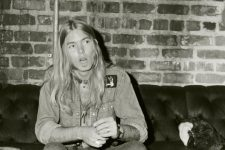 Gregg Allman backstage at The Warehouse.