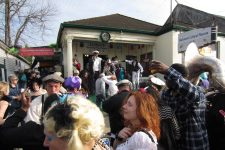 Outside Backstreet on Mardi Gras day