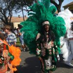 New Orleans Mardi Gras Indians Uptown Super Sunday Big Chief Monk Boudreaux.
