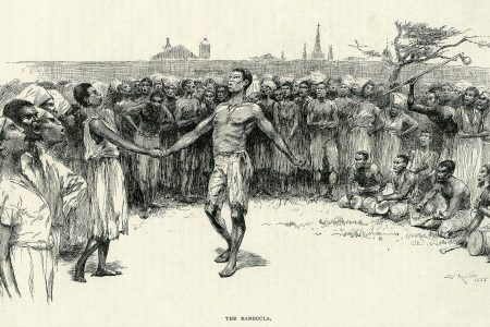 Enslaved people dancing in Congo Square