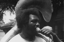 Jules Cahn black and white photo of tuba fats