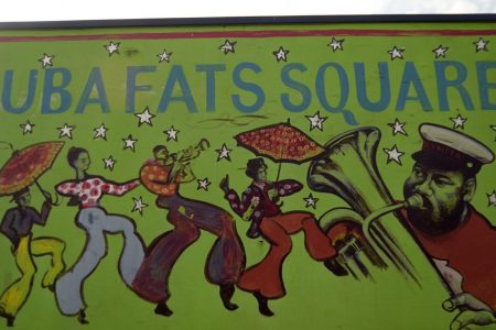 Tuba Fats Square painted mural in 2012