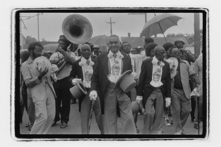 Jazz Funeral led by the Tambourine & Fan Club, circa 1977.