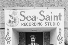 Allen Toussaint outside Sea-Saint Recording Studio