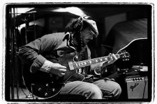 From 1979: Dr. John on guitar recording Professor Longhair's album Crawfish Fiesta in Sea-Saint Studio.