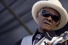 Little Freddie King, the 9th ward's king of gut-bucket blues, playing at French Quarter Fest.