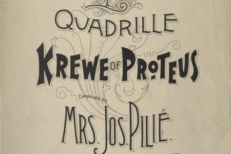 Quadrille sheet music cover