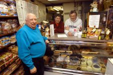 Cosimo, Lewis, and John Matassa at Matassa's Market, the family's corner grocery at Dumaine and St. Philip, a couple of blocks from the site of J&M Studios.