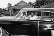 "Antoine ""Fats"" Domino in a car, August 8, 1957."