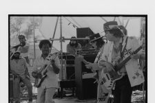 Earl King with Stevie Ray Vaughan at Jazz Fest, May 3, 1986