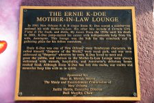 Plaque on Ernie K-Doe's Mother in Law Lounge.