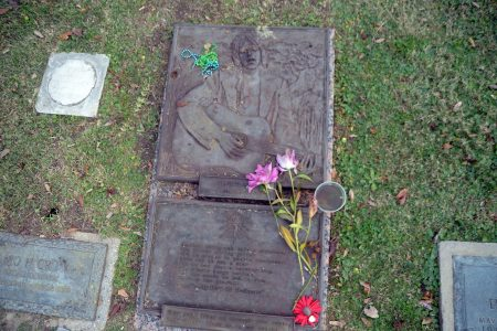 Gram Parsons' grave in 2015.