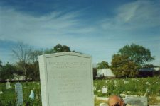 Buddy Bolden biographer Don Marquis at the grave of the first man of jazz.