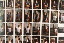 Contact sheet of the construction team rebuilding House of Dance and Feathers in 2007.