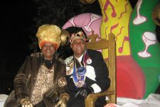 Ronald Lewis reigning as king of the Krewe du Vieux in 2008