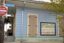 Before Joe's Cozy Corner, there was Ruth's Cozy Corner. A post-Katrina renovation excavated this hand-painted sign.