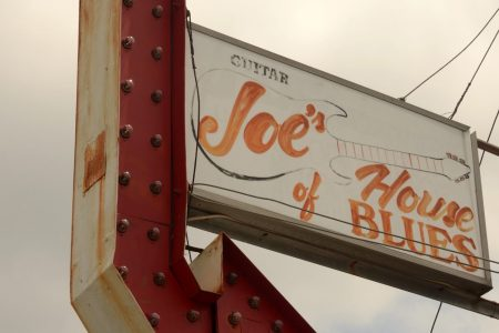 Guitar Joe's House of Blues sign in 2012.