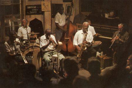 Preservation Hall postcard circa 1975.