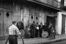 Dan Leyrer photographing Preservation Hall in 1964.