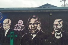 Mural at Shakespeare Park in 2016.