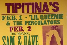 Poster advertising shows at Tipitina's.