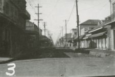 Storyville street scene, looking up Iberville Street (formerly Customhouse Street) toward the lake.