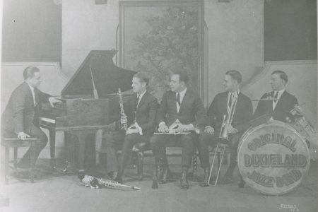 Original Dixieland Jazz Band publicity photo.