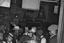 From St. Joseph's Day 1942, Baby Dolls stop at Pete's Blue Heaven, a bar that occupied the Little Gem Saloon building.