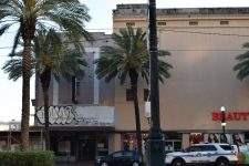 The former Alamo Theater (left) and No Name Theater (right) in 2017.