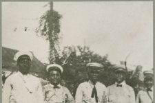 The Original Tuxedo Brass Band in 1920: Yank Johnson, trombone; Manuel Perez, cornet, Oscar