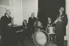 From the Savoy in Boston in 1945: Sidney Bechet, clarinet; Ray Parker, piano; Pops Foster, bass; Bunk Johnson, trumpet; George Thompson, drums.