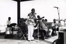 Danny Barker performing in Woldenberg Park circa 1991.