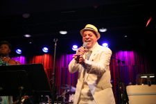 Deacon John Moore performs at Music at the Mint, the New Orleans Jazz Museum's third floor Performing Arts Center.