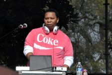DJ Mannie Fresh at the Congo Square New World Rhythms Festival in 2014.