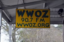 WWOZ French Market studio sign.