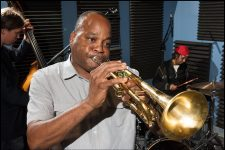 James Andrews performs in WWOZ's French Market studio in 2016.
