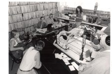 1998 pledge drive in the WWOZ Treehouse studio.