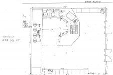 Floor plan of WWOZ Treehouse studio.