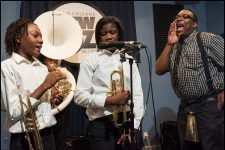 WWOZ Cuttin' Class series with Dolores T. Aaron Academy, led by Andy Bower in studio on April 18, 2017.