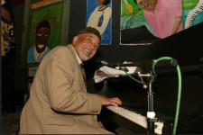 Eddie Bo performs at the Ponderosa Stomp in New Orleans on April 29, 2004.