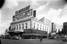 Morris Music House (left) at the corner of Common and South Rampart circa 1946.