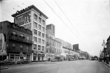 Looking down the 100 block of South Rampart Street circa 1946.