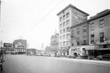 Looking up the 100 block of South Rampart Street in 1946. Talk o' the Town at the extreme right was known to host rhythm and blues shows.
