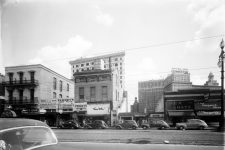 View along the 100 block of South Rampart Street in 1946.