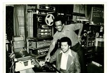 Al Taylor in the Rosemont Recording Studio with Vernard Johnson.