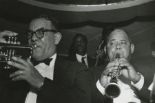 At the Paddock Lounge in 1957: Albert 'Fernandez' Walters on trumpet, Frank Fields on bass, and Louis Cottrell on clarinet. Fields had been part of the core band at J&M Studio, playing on seminal R&B records.