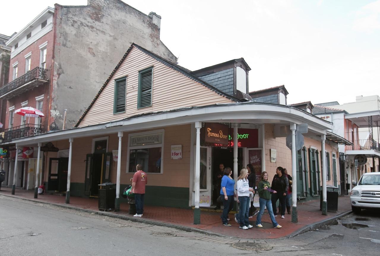 The Famous Door in 2010. & Famous Door - New Orleans Music Map