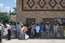 From 2010, the Zulu Social Aid & Pleasure Club's 101st Anniversary Parade stopping at the Autocrat Club.