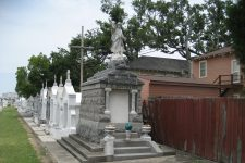 Seen here in 2007, St. Louis Cemetery No. 3 abuts a residential neighborhood in the Seventh Ward.