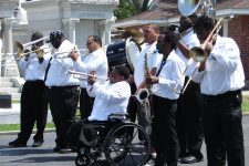 From 2008, the Hot 8 Brass Band plays for the jazz funeral of blogger Ashley Morris in St. Louis Cemetery No. 3. Morris helped inspire John Goodman's character Creighton Burnette on the HBO series
